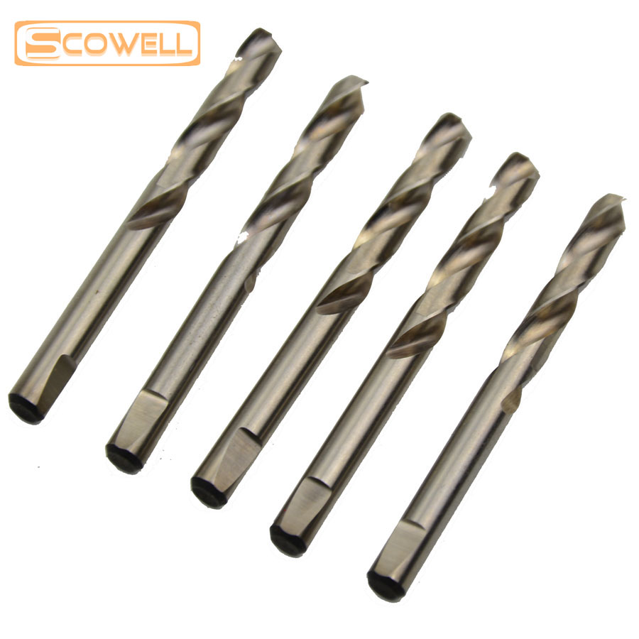 50% OFF 6.35*74mm HSS 4341 Center Drill Bits Milled Shank for Hole Saw, 10pcs/lot Packed Drill for Drilling Metal and Wood 10 x hss 5mm shank 2mm di tip lathe mill electrical center drill bits