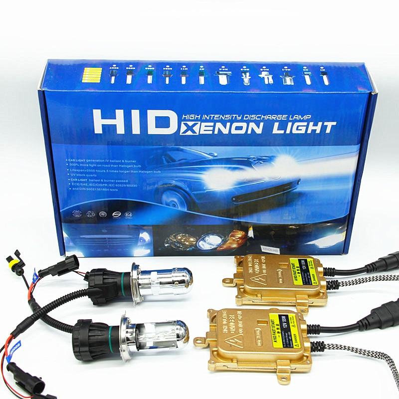 fast bright h4 bi xenon Hi lo beam h4 HID headlight kit 12v 55w 6000k 8000k
