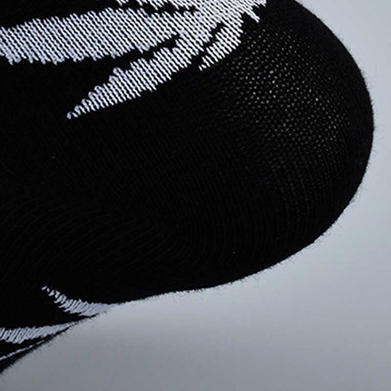 5 쌍 대나무 여름 남자의 재미 있은 발목 양말 대마 Meias 짧은 행복한 단풍 나무 잎 Sokken 목화 잡초 남자 잔디 백색 까만 Socken