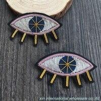 DIY mode-design abzeichen Engel schönheit tränen abzeichen Auge des Horus abzeichen handstickerei gedruckt kleidung