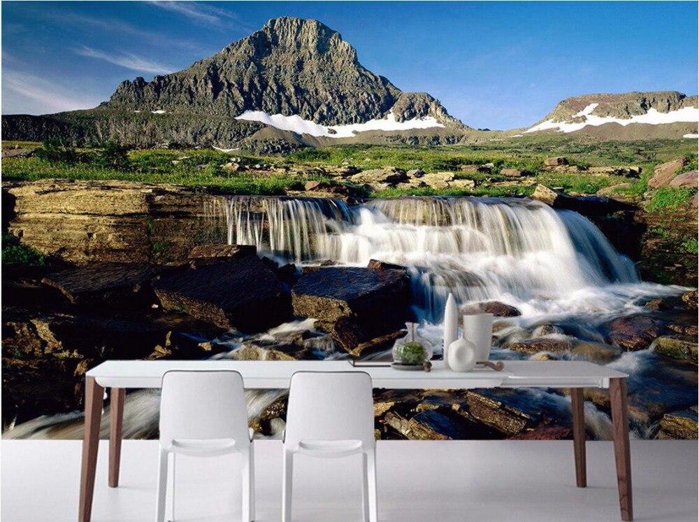 8529395fb 3d خلفيات الصورة غير المنسوجة جدارية مخصصة المياه الجبلية يقع 3d الجداريات  ورق الحائط ل غرفة المعيشة الديكور اللوحة