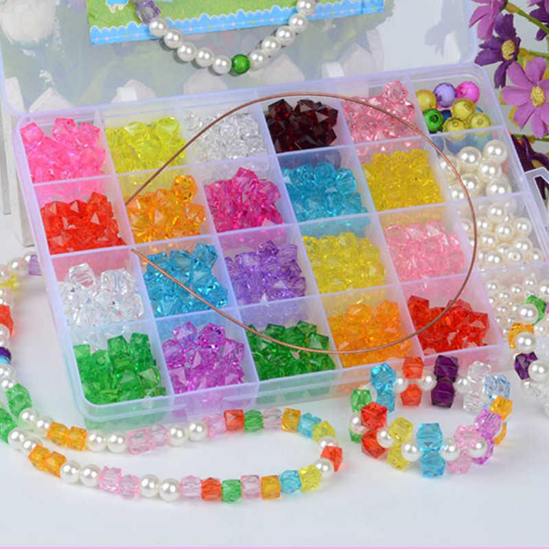 Kız Eğitici Oyuncaklar Kolye Bilezik Takı Yapımı Boncuk Bilezik Seti Seti Diy Boncuk Oyuncaklar Çocuklar için hacer pulseras nina