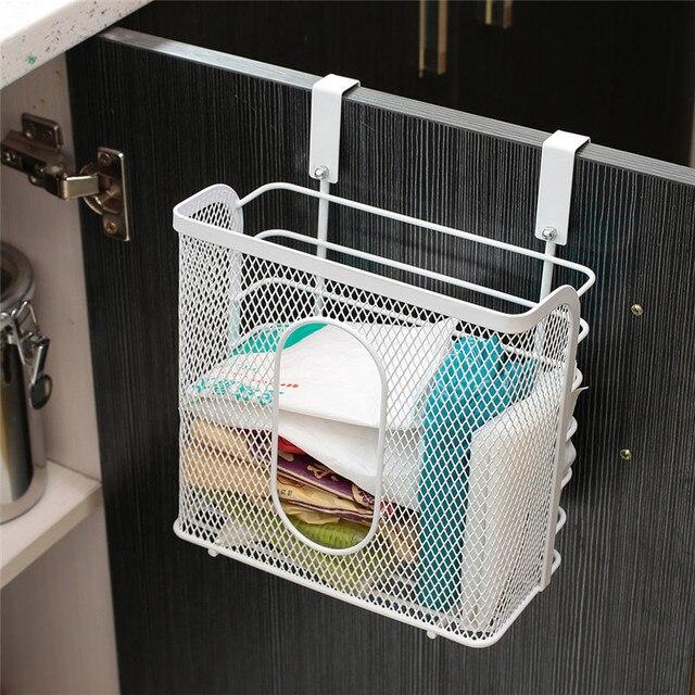 Functional Cabinet Door Basket Carbon Steel Hanging Racks For Spices Bottle  Kitchen Storage Shelf Drawer Hanger
