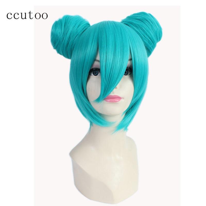 Ccutoo 35 см Синий Шор Базовый Парик С - Синтетические волосы - Фотография 1