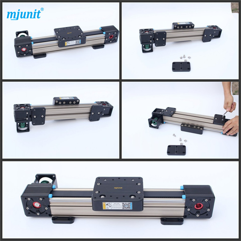 MJUNIT CNC Linear Sliding Miniature Guide Rail Belt Drive Linear Actuator linear axis with toothed belt drive belt drive linear rail reasonable price guideway 3d printer linear way