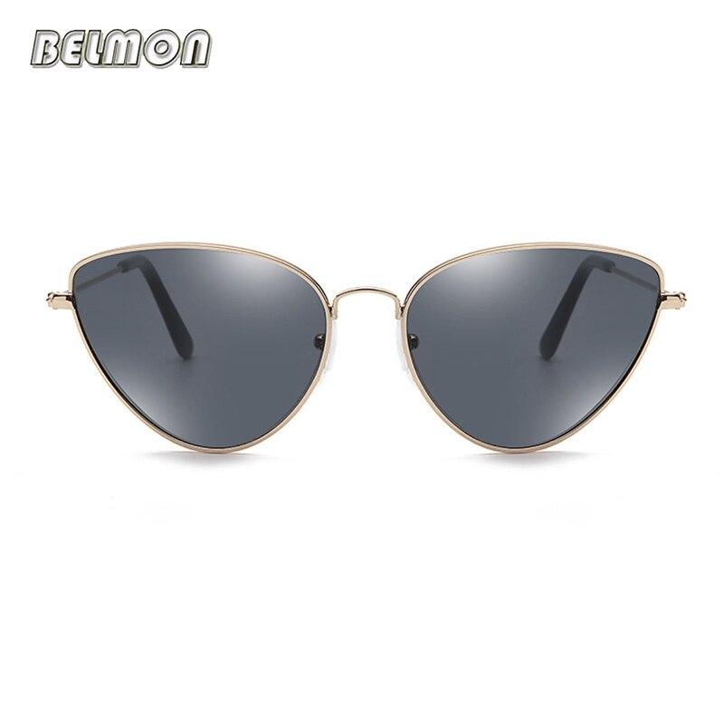 Moda gato ojo gafas de Sol mujer marca diseñador gafas de Sol para las señoras Oculos Vintage Cateye mujer gafas de Sol RS587