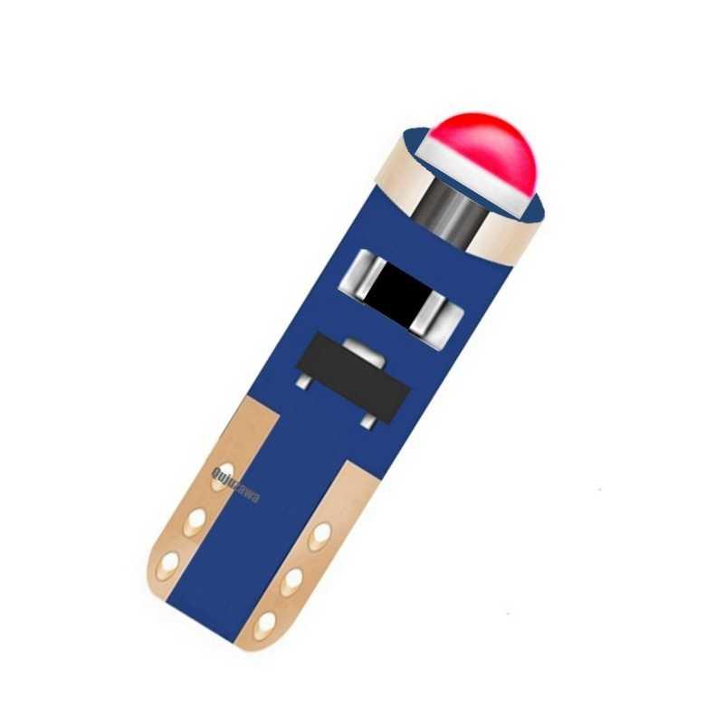 1Pcs T5 W1.2W W3W 74 86 206 Super Bright Cree Chip LED Car Interior Light Auto Side Wedge Dashboard Gauge Instrument Lamp Bulb