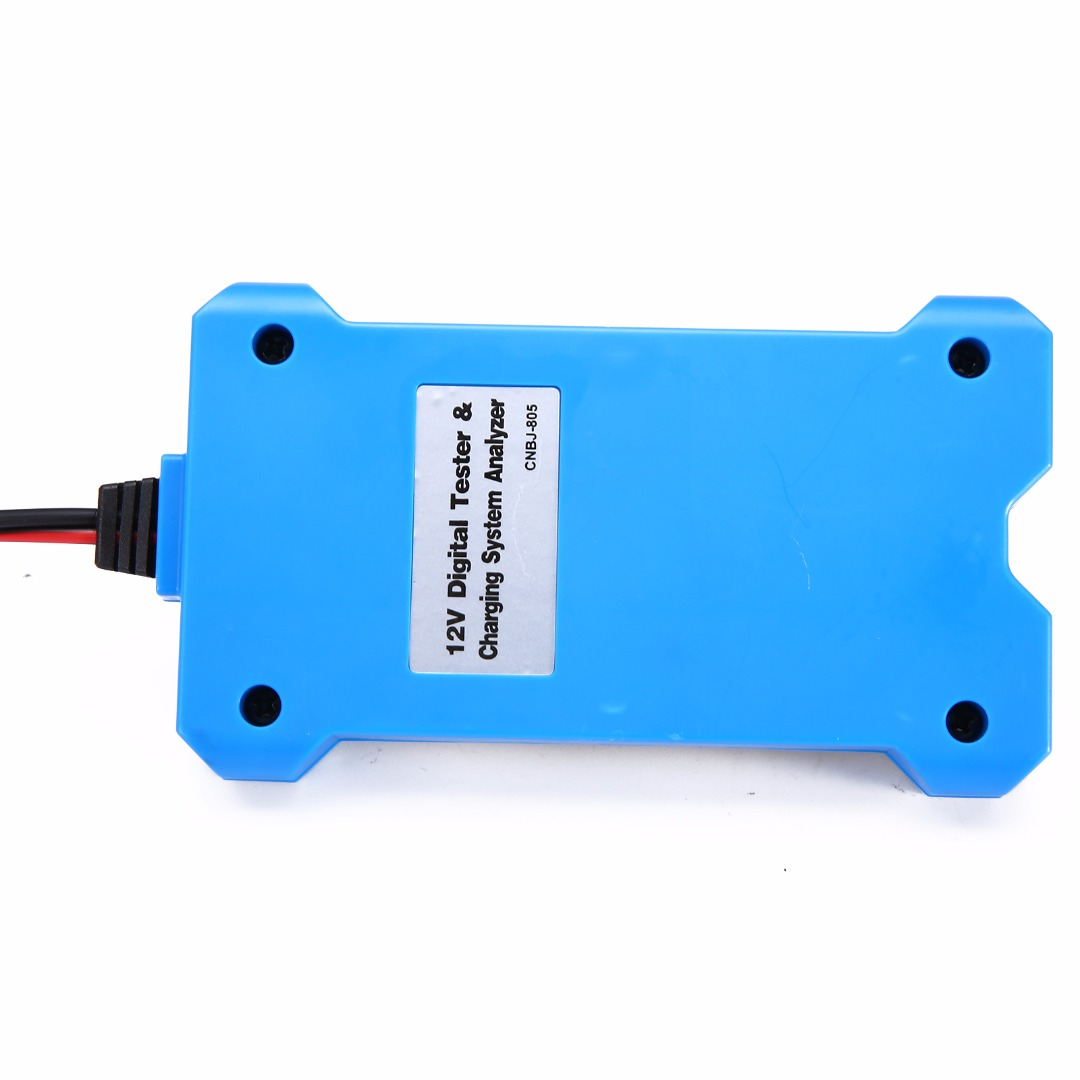 1set Durable Blue 12V Smart Digital Battery Tester Voltmeter Alternator Analyzer Car Vehicle Digital Battery Analyzer