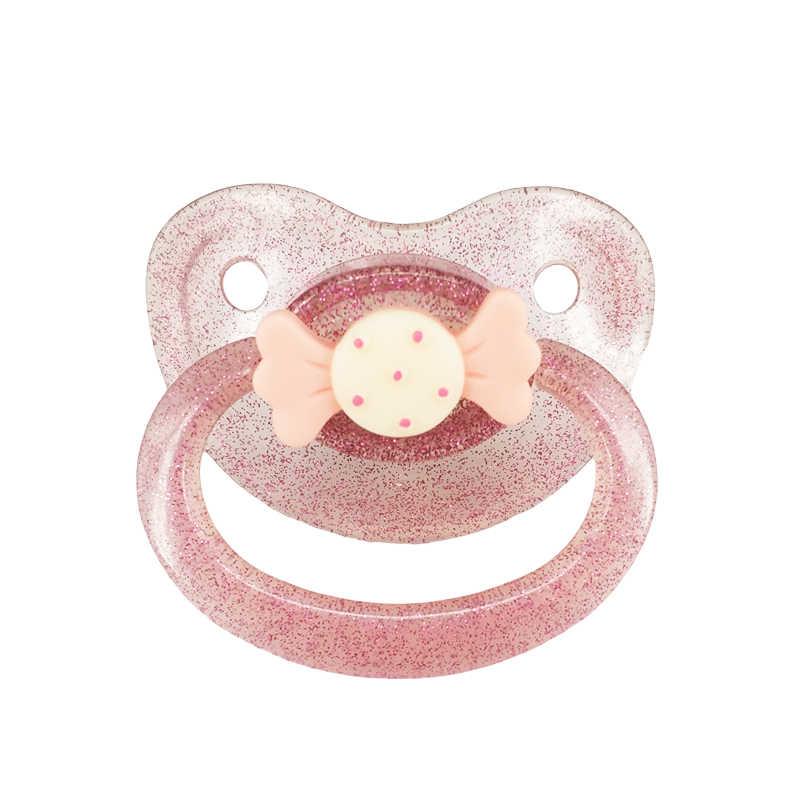 DDLG bebé adulto tamaño grande chupete chica personalizado patrón de caramelo silicona ABDL adulto chupete BPA gratis