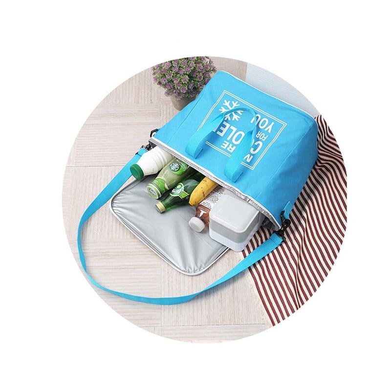 Importato Dall'Estero 20l Outdoor Picnic Sacchetto Di Borse Termiche Panno Di Oxford Impermeabile Scatola Di Pranzo Di Isolamento Freddo Bhd2