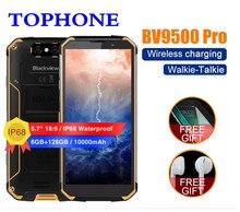 original BLACKVIEW BV9500 Pro mobile phone IP68 waterproof 5.7″FHD MT6763T Octa Core Android 8.1 6GB+128GB NFC 4G PTT Smartphone