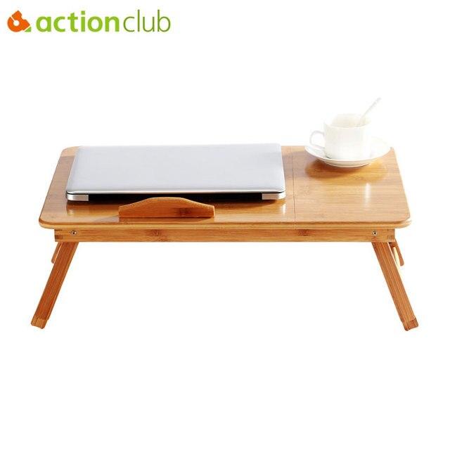 Actionclub Estande Notebook Mesa Laptop Mesa Do Computador Ajustável Mesa Portátil Para A Cama Sofá Cama Bandeja Mesa de Piquenique Mesa Estudando