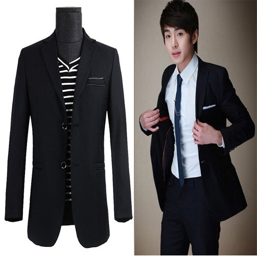 Stylish Men Casual Slim fit single breasted two Button korean Suit Pop Blazer suit sets piece free shopping - Jazz Still Clothing Ltd, store