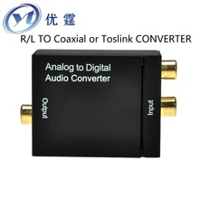 Analog to Digital Audio Converter R/L Audio TO Coaxial or Toslink Audio decoder R/L TO COAXIAL CONVERTER R/L Audio to spdif