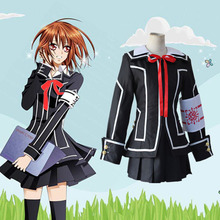 Halloween cosplay anime Vampire Knight Kurosu costume Kuran Yuki cosplay costumes women black uniform(China)