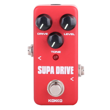 KOKKO Mini Pedal Supa Drive Guitarra Pedal Efectos de Alta Calidad Portatil Guitar Parts & Accessories