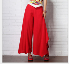 2015 New Fashion cotton linen Pants Women Casual Wide-leg Trousers Women's Loose Leggings 4 colors