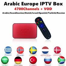 Suécia Nordic Assinatura IPTV Android 6.0 Caixa de TV Árabe AVOV TVonline + Sueco Eternamente IPTV Canais Inteligente caixa de tv ip