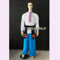 High Quality Custom Made Men Or Children Russian National Suits With Belt,Folk Dancing Tops For Men Jackets and Pants Trousers