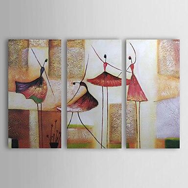 3 pezzo dipinta a mano astratta moderna ragazze che ballano pittura a olio su tela di arte della parete dipinti picture dipinti su tela home decor