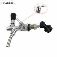 Beer Tap Faucet with Ball Lock Liquid Disconnect,Adjustable Beer Facuet with chrome plating For Cornelius Keg,homebrew kegging