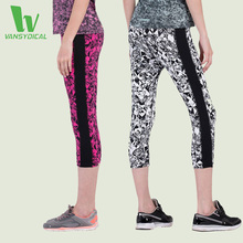 VANSYDICAL Women's Compression Capris Printed Tights Yoga Leggings Printed Breathable Sportswear Running Pants For Women 2016
