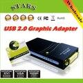 Оптовая Бесплатная/Перевозка Груза Падения USB 2.0 для DVI/HDMI/VGA (2048x1152) 17D1 Графика Multi-Display Adapter Конвертер Внешней Видеокарты