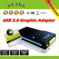 Wholesale Free/Drop shipping USB 2.0 to DVI/HDMI/VGA(2048x1152)17D1 Graphics Multi-Display Adapter Converter External Video Card