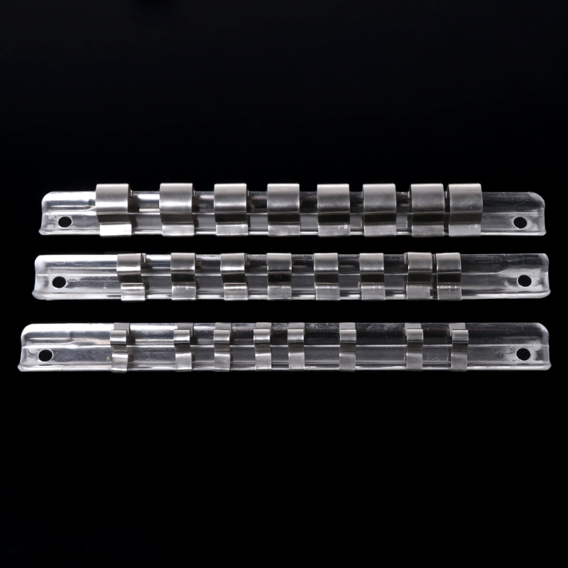 Socket Rack Holder 1 4 quot 3 8 quot 1 2 quot with 8 Clips On Rail Tool Organizer Storage in Sockets from Tools