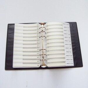 Image 3 - 0402 SMD Resistor 0R~10M 1% 170valuesx50pcs=8500pcs + Capacitor 80valuesX50pcs=4000pcs 0.5PF~1UF Sample Book