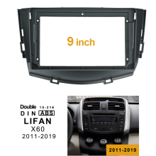 2Din 1DIN Car DVD Frame Audio Fitting Adaptor Dash Trim Kits Facia Panel 9inch For LIFAN X60 2011-2019 Double Din Radio Player top quality 2 din car audio frame dash kits dvd panel fascia adaper kit radio frame facia for 2014 nissan x trail qashqai