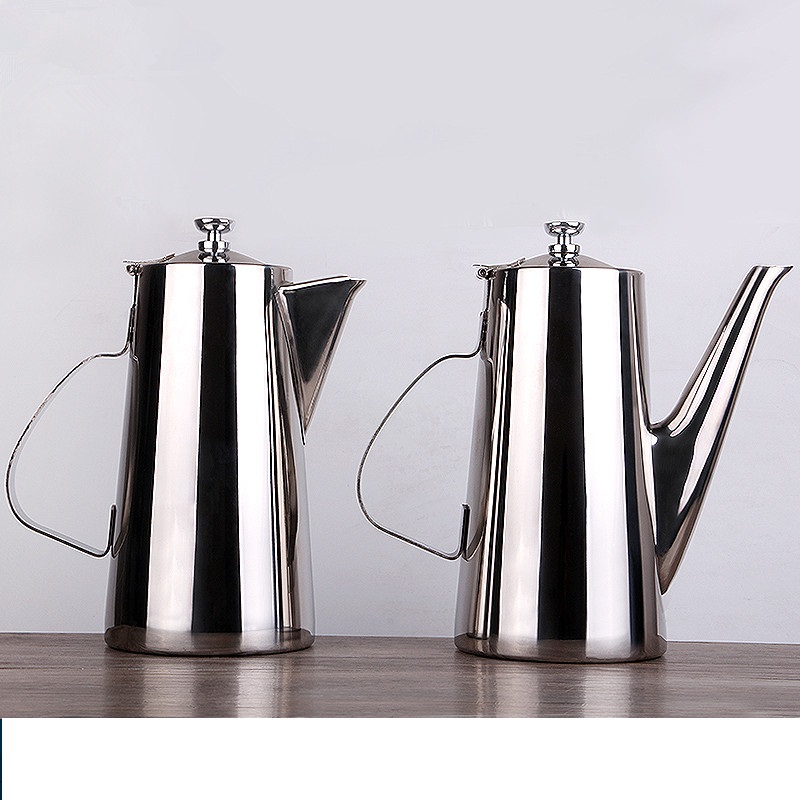 Thick Stainless Steel Short / Long Mouth Cooling Water Pot Coffee Soup Pot Cup 1.5L / 2L Food Processor Tool Big Capacity new korean lovely bear vacuum cup tea coffee stainless steel thermos food jar thermal container insulated soup holder