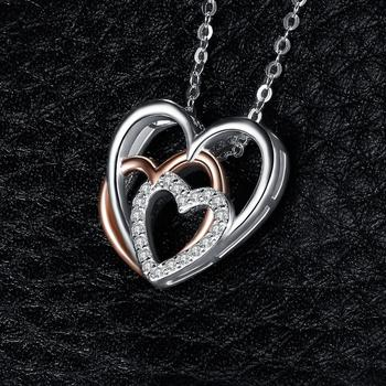 Heart to Heart Silver Pendant Necklace  3