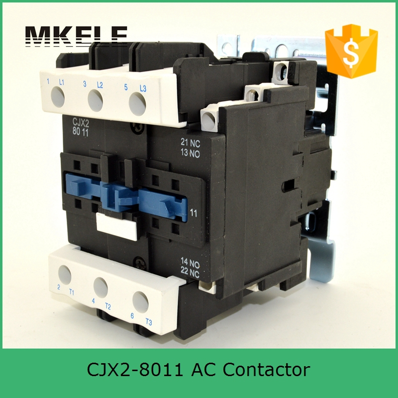 CJX2-8011 3P+NO+NC 80a 220v coil voltage three phase contactor 220vac coil ac contactor with 85% silver contacts new lp2k series contactor lp2k06015 lp2k06015md lp2 k06015md 220v dc
