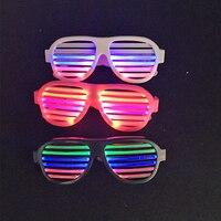 Sound Control LED Flashing Glasses Luminous Christmas KTV Bar Dance Party Mask Decor Supplies Light Up