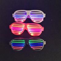 Control de sonido LED Parpadeante Gafas Luminosa KTV Bar Máscara Del Partido de Danza Decoración de Navidad Suministra el juguete del Light-Up Voz Gafas de Obturación