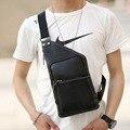 2017 Men's PU Leather Vintage Travel Riding  Messenger Shoulder Sling Chest Casual Bag