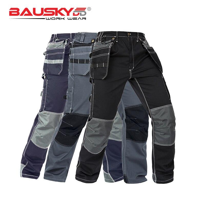 Work Pants In Cargo Pants Men's Workwear Working Pants Tool Trouser Black Work Trousers Men Workwear Free Shipping