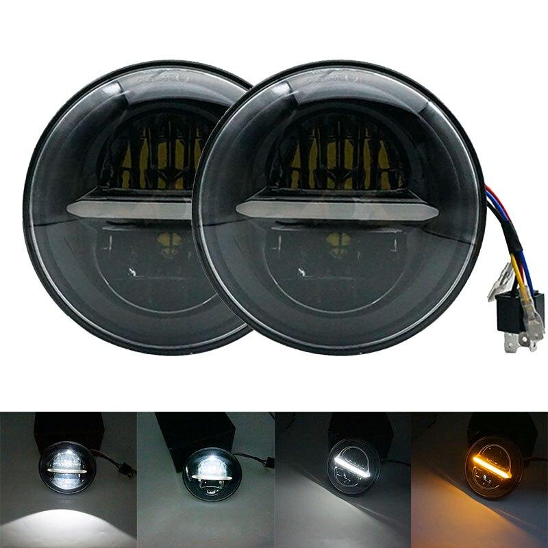 Auto headlight 7 inch led projector headlamp Hi/ Lo beam DRL Amber turn signal for Jeep Wrangler JK lada niva 4x4 suzuki samurai