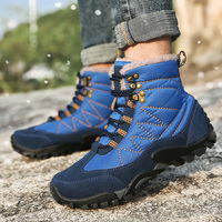2018 New Men Boots Winter With Fur Warm Snow Boots Men Winter Boots Work Shoes Men Footwear Fashion Rubber Ankle Shoes 38 47