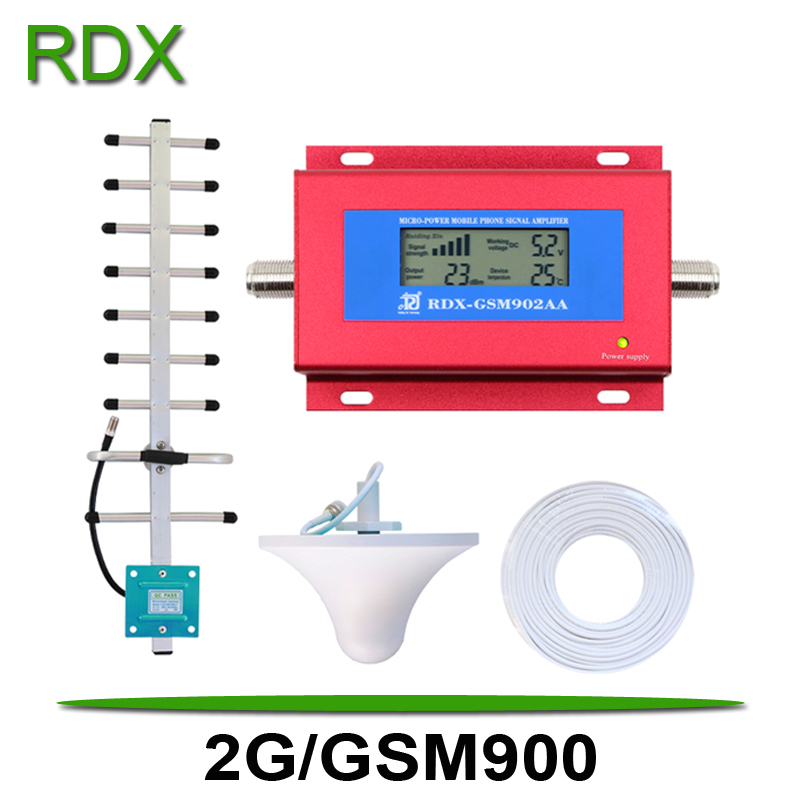 Cellphone GSM Booster GSM900 MHz High Quality LCD Display Mobile Phone 2G Signal Repeater 2G/GSM 900MHz Yagi Antenna Wholesale