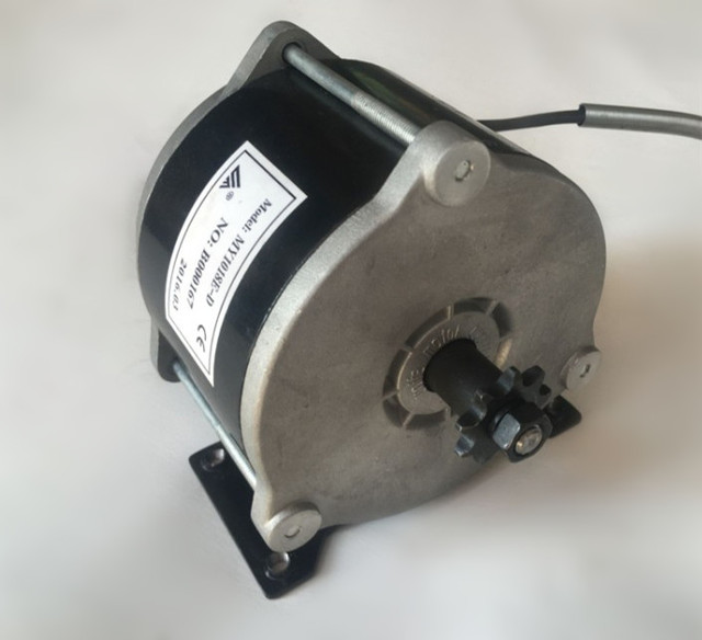 500w Dc 36v My1018e High Sd Brush Motor With Belt Pulley For Electric Tricycle Scooter My1016