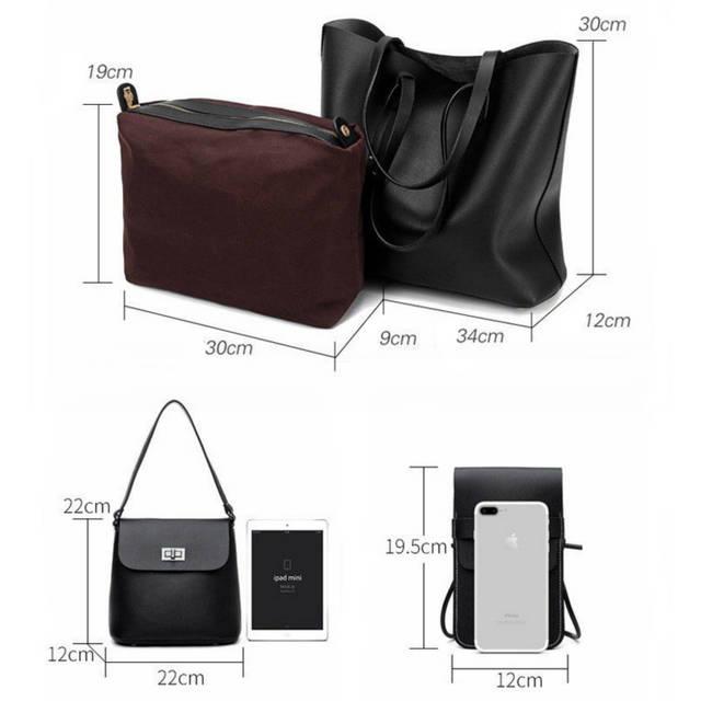 9fc9eb8d3c2 TTOU 3 Pcs/Set Fashion Women Handbags Brand Composite Bag For Women  Messenger Bags Female Purse Solid Shoulder Bags Casual Tote