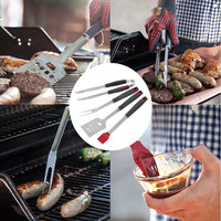 kitchen accessories 2019 4pc Stainless Steel BBQ / Grilling Tool Set Combination Of Barbecue Utensils An