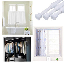 6 Pack Tension Rods, Adjustable Spring Steel Cupboard Bars Rod Curtain Rods, Extendable