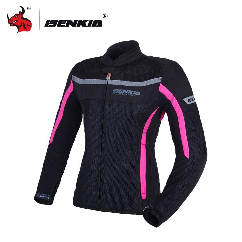 BENKIA Moto Giubbotti delle Donne Della Maglia Giacca Moto Motocross Equitazione Attrezzature Gear Estate Traspirante Abbigliamento Moto