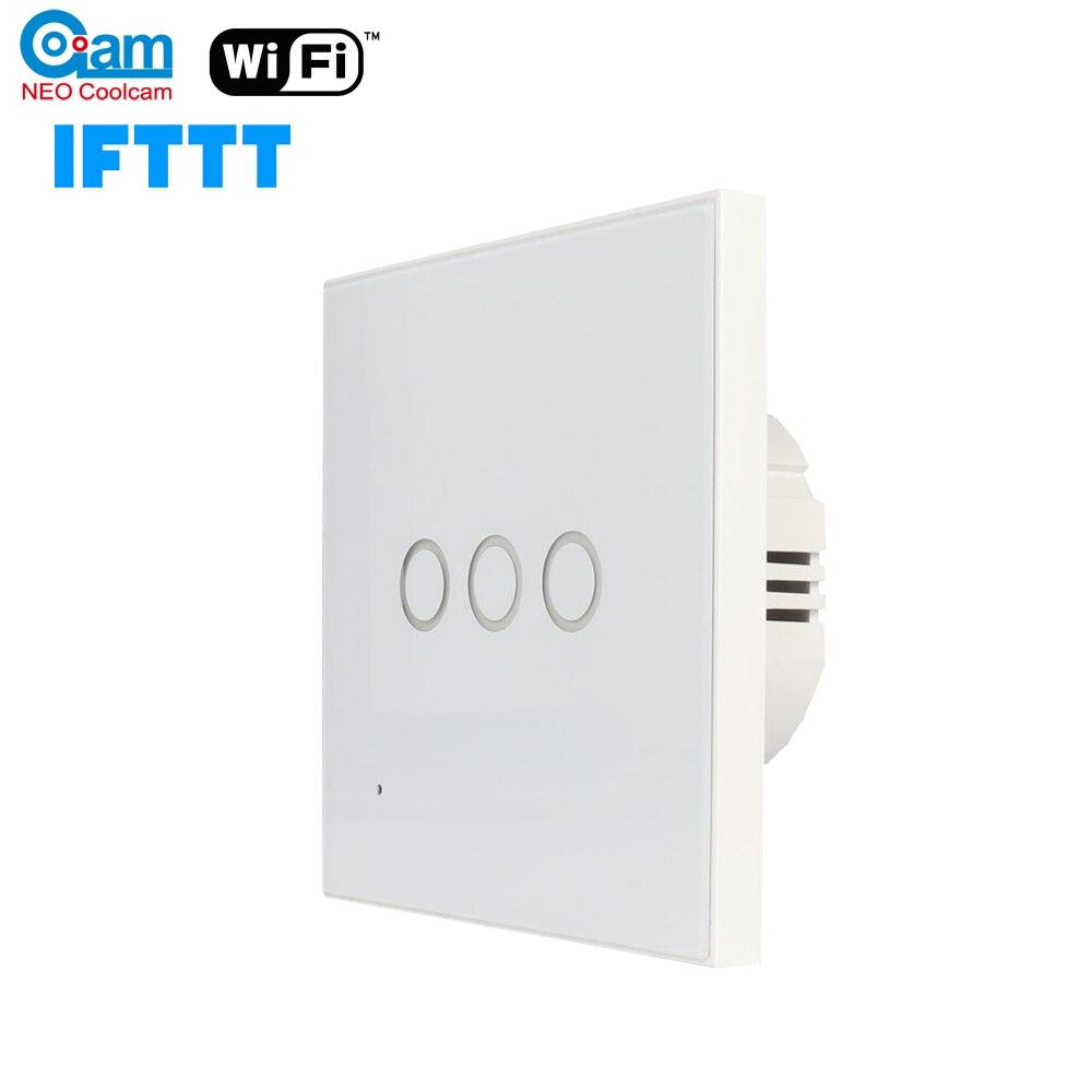 NEO Coolcam Smart Wifi Wall Light Switch 3 Gang Touch/Wifi Remote Smart Home Wall Touch Switch Support Alexa,Google Home,IFTTT