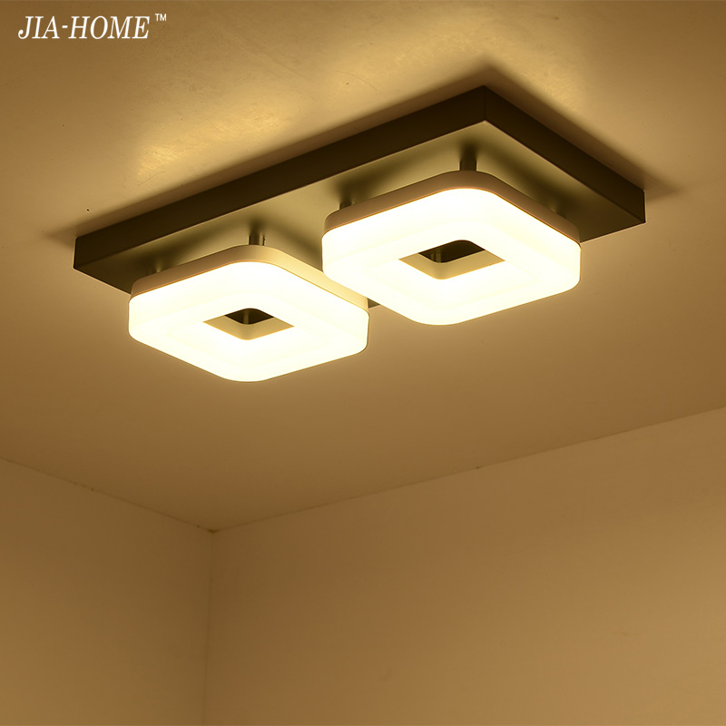 Ceiling Lights fixture home aisle corridor balcony 24w black white base Modern LED Ceiling Lamp Square Lustre Luminarias lamps simple style ceiling light wooden porch lamp square ceiling lamp modern single head decorative lamp for balcony corridor study