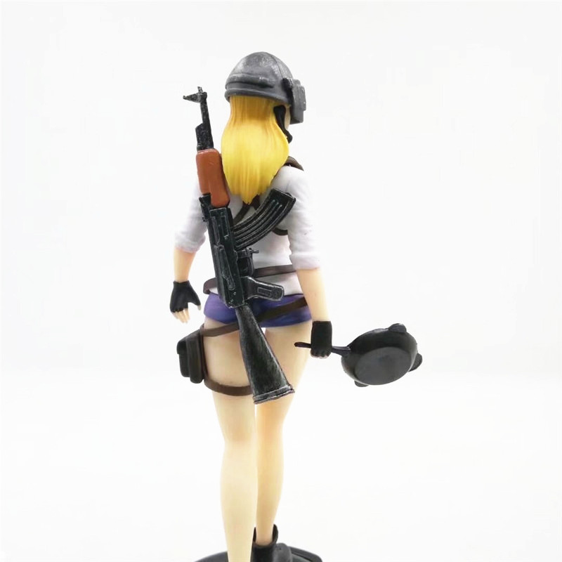 Game PUBG Playerunknown's Battlegrounds Girl Winner Eat Chicken Dinner PVC Action Figure Gifts no retail box (Chinese Version) 3