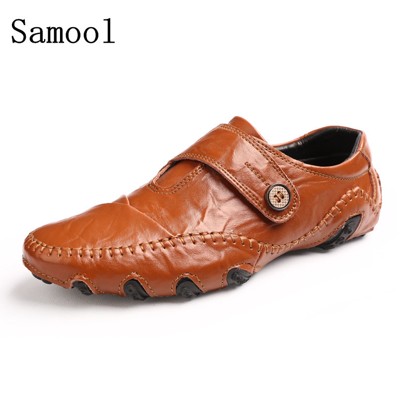 2017 Fashion Spring Autumn Men Flat Shoes Casual Sapatos Homens New Style Soft Split Leather Mens Moccasin Driving Loafers Shoes new casual 2016 men canvas loafers flat rubber driving peas shoes outdoor zapatos low heel masculina sapatos lazy licht schoenen